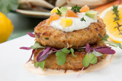 Crab Cakes Appetizer Royalty Free Stock Photo