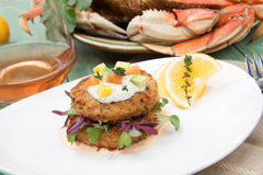 Crab Cakes Appetizer Royalty Free Stock Image