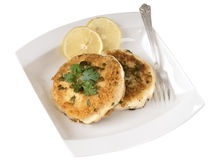 Crab cakes Stock Photos