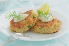 Crab Cakes Royalty Free Stock Photos