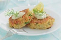 Crab Cakes Royalty Free Stock Photos