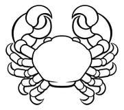Crab Cancer Horoscope Zodiac Sign Stock Photo