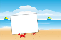 Crab and card Stock Image