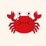 Crab cartoon theme elements vector,eps Stock Image