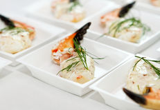 Crab claw food on a plate Stock Photography