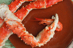 Crab claw with shrimp Royalty Free Stock Photo
