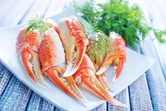 Crab claws Stock Photos