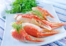 Crab claws Stock Image