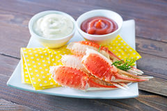 Crab claws royalty free stock photos