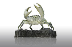 Crab on clay. The crab statue stand on the clay Royalty Free Stock Photo