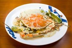 Crab with coconut milk Stock Photo