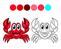 Crab coloring book. Stock Image