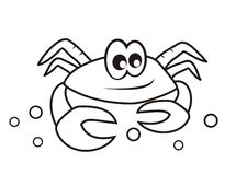 Crab - coloring book Stock Photography