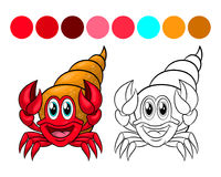 Crab coloring book. Royalty Free Stock Photography
