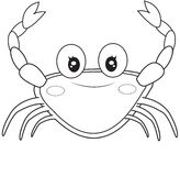 Crab coloring page. Useful as coloring book for kids Royalty Free Stock Images