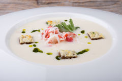 Crab cream soup Stock Photography