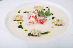 Crab cream soup Stock Photo