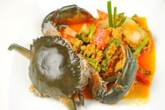 Crab with Curry Powder Royalty Free Stock Images