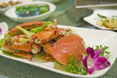 Crab dish in Asia Royalty Free Stock Images
