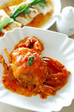 Crab dish. China delicious food .thai delicious food .asia cuisine Fried Shell Crab with garlic and pepper n Stock Photography