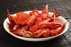 Crab dish seafood , Royalty Free Stock Images