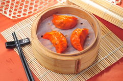 Crab dumpling dim sum Royalty Free Stock Photography