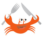 Crab eating Royalty Free Stock Images