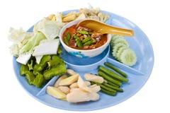 Crab egg paste chilli sauce (namprik) Stock Images