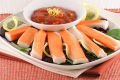 Crab finger food Stock Photo