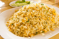 Crab fired rice. Thai food stock image