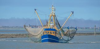 Crab Fishing Boat,North Sea,Germany Stock Image