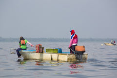 Crab fishing on the Lake Maracaibo, Venezuela Royalty Free Stock Image