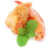 Crab food. Idea of eating seafood is crab food Stock Image