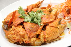 Crab ,. Food Crab , crab curry , crab frame . clay pot rice , Chinese food , tasty , eat it , bake it in a pot , mushrooms , rice , mushrooms, onion , top the Stock Photos