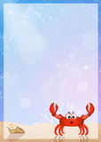 Crab with frame Stock Photo