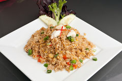 Crab Fried Rice Dish Stock Images