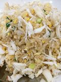 Crab fried rice. Ready to eat Stock Images