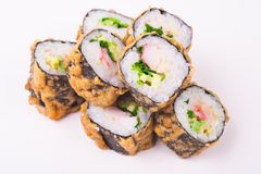 Crab fried roll Stock Images