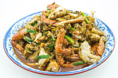 Crab fried with thai chilli paste Royalty Free Stock Image