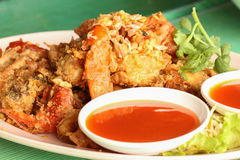 Crab fry in from southern  thailand Royalty Free Stock Photography