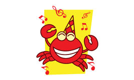 Crab full music. Illustration of crab full music Royalty Free Stock Photos