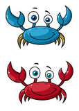 Crab funny cartoon character Stock Image