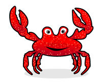 Crab. Funny crab with pincers and pop eyes Stock Image