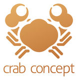 Crab Icon Concept Stock Photo