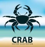 Crab icon Royalty Free Stock Photo