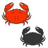 Crab icon isolated on white background. Stock Photos