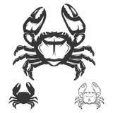 Crab icon isolated on white background. Design elements for logo, label, emblem, sign, brand mark. Vector illustration Stock Images