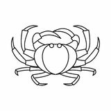 Crab icon, outline style. Crab icon in outline style isolated vector illustration. Marine animal symbol Stock Photography