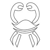 Crab icon, outline style Royalty Free Stock Photos