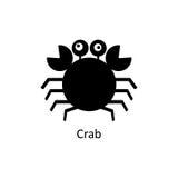 Crab icon. Silhouette vector icon Royalty Free Stock Photos